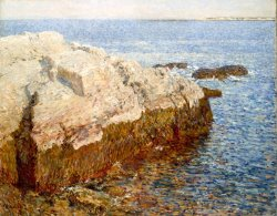 Cliff Rock Appledore by Childe Hassam