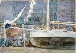 Drydock, Gloucester by Childe Hassam