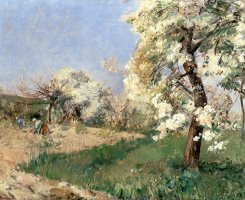 Pear Blossoms by Childe Hassam