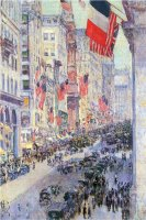 The Avenue Along 34th Street May 1917 by Childe Hassam