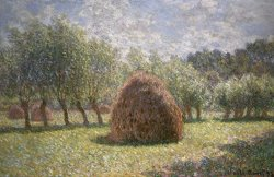Haystacks at Giverny by Claude Monet