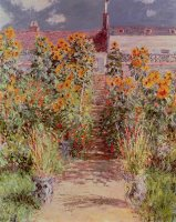 The Garden at Vetheuil by Claude Monet