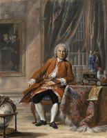 Portrait of Joan Jacob Mauricius, Governor General of Suriname by Cornelis Troost