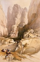 Entrance To Petra by David Roberts