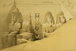 Front Elevation Of The Great Temple Of Aboo Simbel by David Roberts