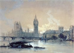 The Houses of Parliament by David Roberts