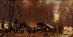 A Different Sugaring Off by Eastman Johnson