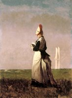 Woman Reading by Eastman Johnson