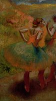 Dancers Wearing Green Skirts by Edgar Degas