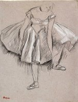 Danseuse Rajustant Son Chausson by Edgar Degas