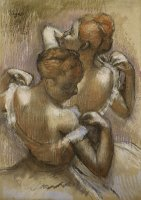 Two Dancers Adjusting their Shoulder Straps by Edgar Degas