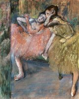 Two Dancers by a Hearth by Edgar Degas