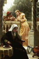 A Stolen Interview by Edmund Blair Leighton