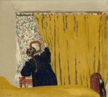 The Yellow Curtain by Edouard Vuillard