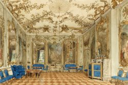 Concert Room of Sanssouci Palace, Potsdam, Germany by Eduard Gaertner