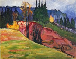 From Thuringewald by Edvard Munch