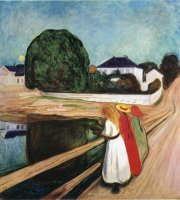 The Girls on The Bridge 1901 by Edvard Munch