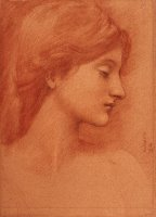 Study of a Female Head by Edward Burne Jones