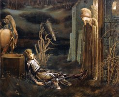 The Dream of Launcelot at The Chapel of The San Graal by Edward Burne Jones
