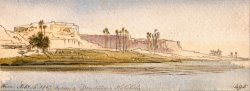 Between Dendour And Kalabshe by Edward Lear