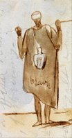 Egyptian Man 2 by Edward Lear