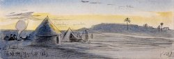El Areesh, 6 30 Pm, 31 March 1867 (33) by Edward Lear