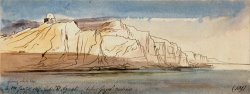 Gebel El Azerat (below Girgeh, East Side) by Edward Lear