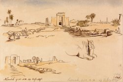 Karnak, 9 30 Am, 24 February 1867 (546) by Edward Lear