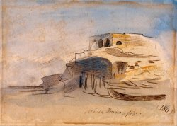 Massa Forno, Gozo by Edward Lear