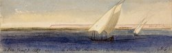 Near Nesle Sheikh Hassan, Looking South by Edward Lear