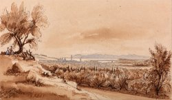 Nice From The Genoa Road by Edward Lear