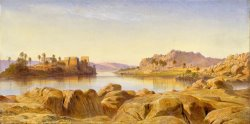 Philae, Egypt by Edward Lear