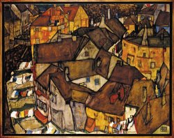 Krumau Crescent of Houses (the Small City V) by Egon Schiele