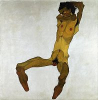 Seated Male Nude (self Portrait) by Egon Schiele