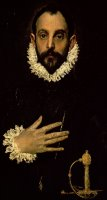 Gentleman With His Hand On His Chest by El Greco Domenico Theotocopuli
