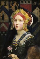 Head of a Tudor Girl by Eleanor Fortescue Brickdale