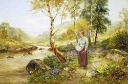 Gathering Wild Flowers by Ernest Walbourn
