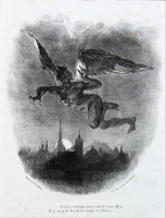 Mephistopheles in The Sky by Eugene Delacroix