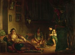 The Women of Algiers in Their Harem by Eugene Delacroix