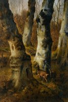Deer in a Wood by Eugene Verboeckhoven