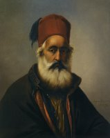 Portrait of a Dignitary Possibly Ibrahim Pacha by Eugene Verboeckhoven