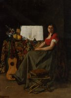 The Guitar Player by Ferdinand Roybet