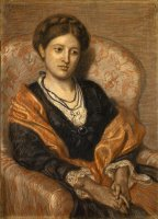 Portrait of Miss Iza Duffus Hardy by Ford Madox Brown