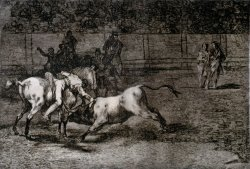 Mariano Ceballos, Called El Indio , Kills The Bull From Horseback by Francisco De Goya