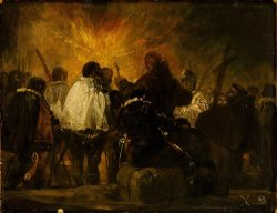 Night Scene From The Inquisition by Francisco De Goya