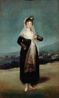 Portrait of The Marquesa De Santiago by Francisco De Goya