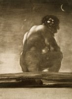 Seated Giant by Francisco De Goya