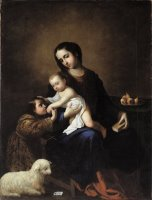 The Virgin And Child with The Infant St John The Baptist by Francisco de Zurbaran