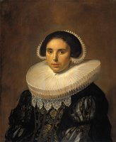 Portrait of a Woman, Possibly Sara Wolphaerts Van Diemen by Frans Hals