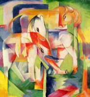 Elephant Horse and Cow by Franz Marc